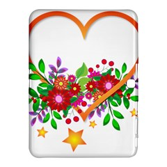 Heart Flowers Sign Samsung Galaxy Tab 4 (10 1 ) Hardshell Case