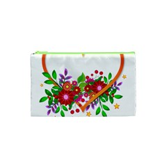 Heart Flowers Sign Cosmetic Bag (xs)