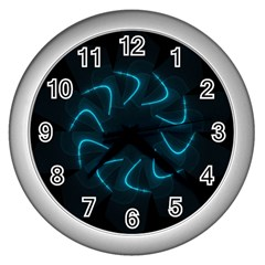 Background Abstract Decorative Wall Clocks (silver)