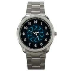 Background Abstract Decorative Sport Metal Watch