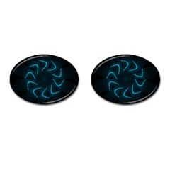 Background Abstract Decorative Cufflinks (Oval)