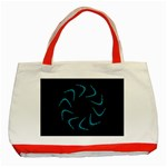 Background Abstract Decorative Classic Tote Bag (Red) Front