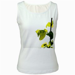 Leaves Nature Women s White Tank Top