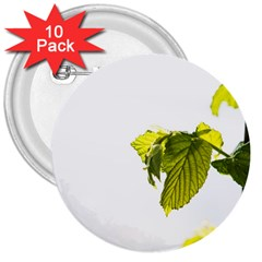 Leaves Nature 3  Buttons (10 pack)