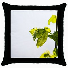 Leaves Nature Throw Pillow Case (Black)