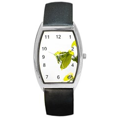 Leaves Nature Barrel Style Metal Watch