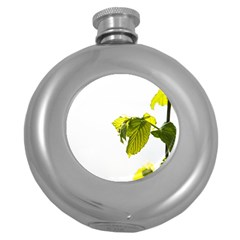 Leaves Nature Round Hip Flask (5 Oz)