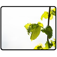 Leaves Nature Fleece Blanket (medium)