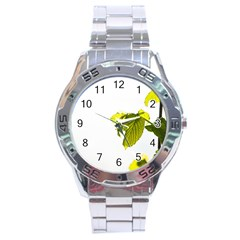 Leaves Nature Stainless Steel Analogue Watch