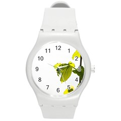 Leaves Nature Round Plastic Sport Watch (m)