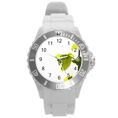 Leaves Nature Round Plastic Sport Watch (l)