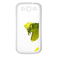 Leaves Nature Samsung Galaxy S3 Back Case (white)