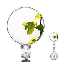 Leaves Nature Stainless Steel Nurses Watch