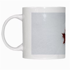 Winter Maple Minimalist Simple White Mugs