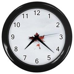 Winter Maple Minimalist Simple Wall Clocks (black)