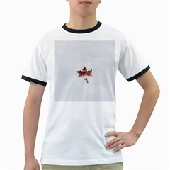 Winter Maple Minimalist Simple Ringer T Shirts
