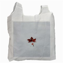 Winter Maple Minimalist Simple Recycle Bag (Two Side)