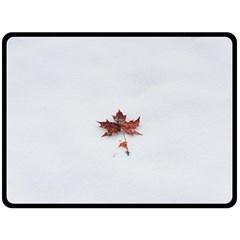 Winter Maple Minimalist Simple Fleece Blanket (large)