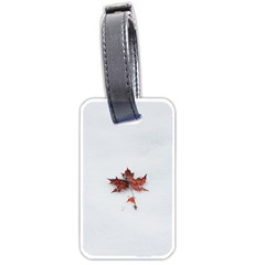 Winter Maple Minimalist Simple Luggage Tags (Two Sides)