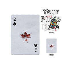 Winter Maple Minimalist Simple Playing Cards 54 (mini)