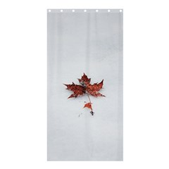 Winter Maple Minimalist Simple Shower Curtain 36  X 72  (stall)