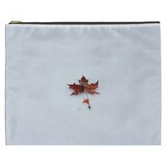 Winter Maple Minimalist Simple Cosmetic Bag (XXXL)