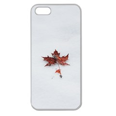 Winter Maple Minimalist Simple Apple Seamless Iphone 5 Case (clear)