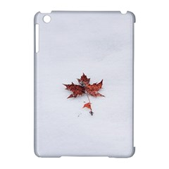 Winter Maple Minimalist Simple Apple Ipad Mini Hardshell Case (compatible With Smart Cover)