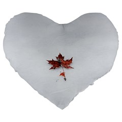 Winter Maple Minimalist Simple Large 19  Premium Heart Shape Cushions