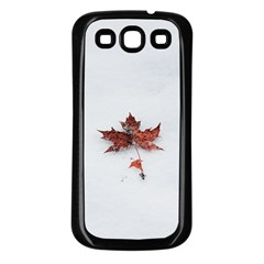 Winter Maple Minimalist Simple Samsung Galaxy S3 Back Case (black)