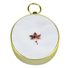 Winter Maple Minimalist Simple Gold Compasses