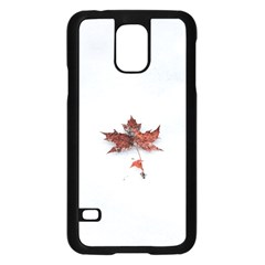Winter Maple Minimalist Simple Samsung Galaxy S5 Case (black)