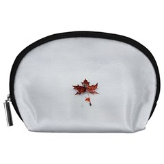 Winter Maple Minimalist Simple Accessory Pouches (large)