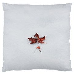 Winter Maple Minimalist Simple Large Flano Cushion Case (two Sides)