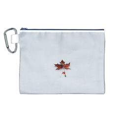 Winter Maple Minimalist Simple Canvas Cosmetic Bag (l)