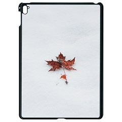 Winter Maple Minimalist Simple Apple Ipad Pro 9 7   Black Seamless Case