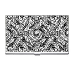 Gray Scale Pattern Tile Design Business Card Holders