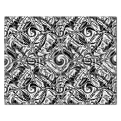 Gray Scale Pattern Tile Design Rectangular Jigsaw Puzzl