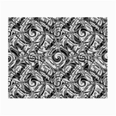 Gray Scale Pattern Tile Design Small Glasses Cloth (2 Side)