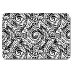 Gray Scale Pattern Tile Design Large Doormat