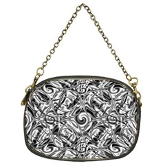 Gray Scale Pattern Tile Design Chain Purses (One Side)