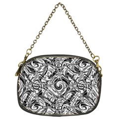 Gray Scale Pattern Tile Design Chain Purses (two Sides)