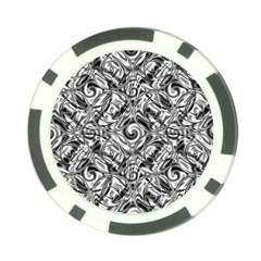 Gray Scale Pattern Tile Design Poker Chip Card Guard (10 Pack)