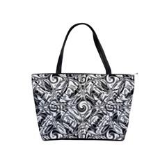 Gray Scale Pattern Tile Design Shoulder Handbags