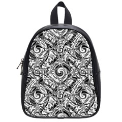 Gray Scale Pattern Tile Design School Bags (small)