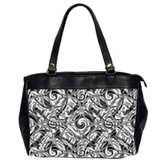 Gray Scale Pattern Tile Design Office Handbags (2 Sides)