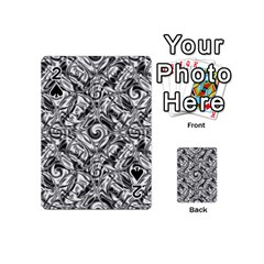 Gray Scale Pattern Tile Design Playing Cards 54 (mini)