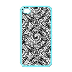 Gray Scale Pattern Tile Design Apple iPhone 4 Case (Color)