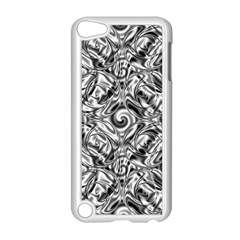 Gray Scale Pattern Tile Design Apple iPod Touch 5 Case (White)