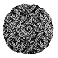Gray Scale Pattern Tile Design Large 18  Premium Round Cushions